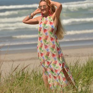 Floral Sheer Dress /  Swimsuit Coverup